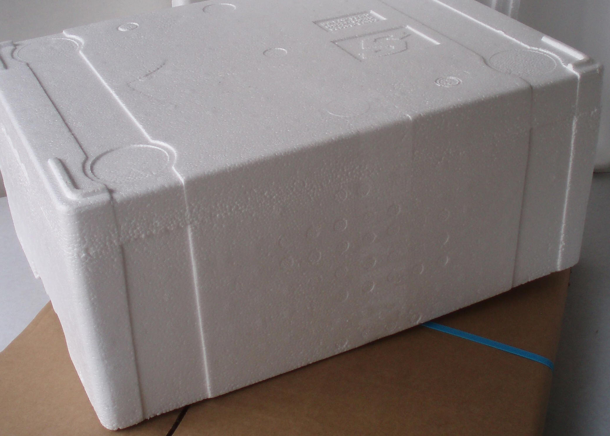Polystyrene boxes with lids